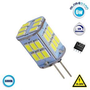 Λάμπα LED G4 30 SMD 5630 6W 10V-30V 720lm 320° Ψυχρό Λευκό 6000k GloboStar 87914