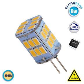 Λάμπα LED G4 30 SMD 5630 6W 10V-30V 720lm 320° Θερμό Λευκό 3000k GloboStar 87915