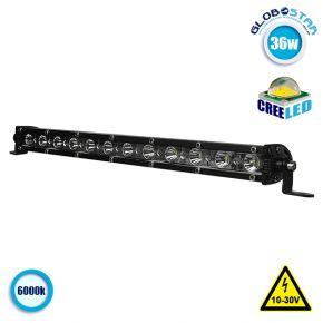 Μπάρα Φωτισμού LED Slim 36W 10-30V 5040lm 30° Αδιάβροχη IP65 Ψυχρό Λευκό 6000k GloboStar 05186