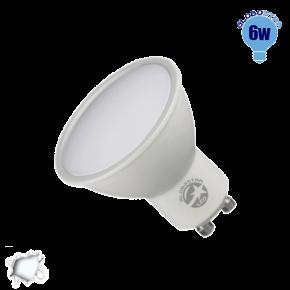 LED Σποτ GU10 Globostar 6 Watt 230v Ψυχρό
