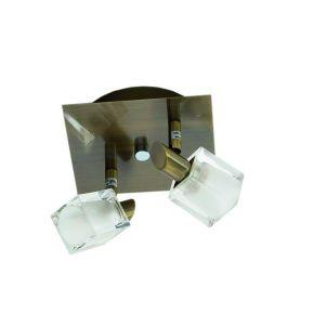 InLight Επιτοίχιο σποτ από μέταλλο σε οξυντέ απόχρωση (9048-2Φ-Οξυντέ)