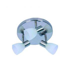 InLight Επιτοίχιο σποτ από μέταλλο σε νίκελ ματ απόχρωση (9064-3Φ-Νίκελ Ματ)