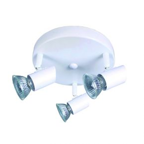 InLight Επιτοίχιο σποτ από μέταλλο σε λευκή απόχρωση (9077-3Φ-Λευκό)