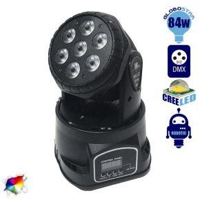 Κινούμενη Ρομποτική Κεφαλή CREE LED 84 Watt RGBW WASH High Quality DMX512