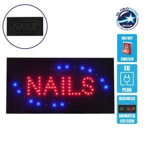 Φωτιστικό LED Σήμανσης NAILS με Διακόπτη ON/OFF και Πρίζα 230v 48x2x25cm GloboStar 96304
