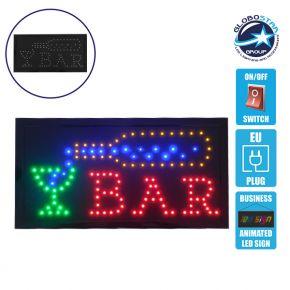 Φωτιστικό LED Σήμανσης BAR WITH BOTTLE με Διακόπτη ON/OFF και Πρίζα 230v 48x2x25cm GloboStar 96309