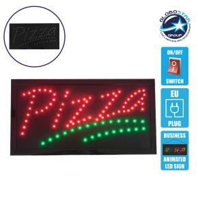 Φωτιστικό LED Σήμανσης PIZZA με Διακόπτη ON/OFF και Πρίζα 230v 48x2x25cm GloboStar 96312
