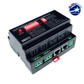 Dimmer Pack Ράγας 800 Watt Trailing Edge για LED Προϊόντα 220 Volt 4 Καναλιών DMX512