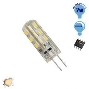 Λάμπα LED G4 2 Watt 12 Volt DC Θερμό Λευκό