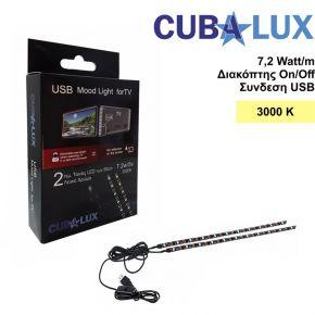 Cubalux Σετ Κρυφού Φωτισμού 5V με USB για Τηλεόραση