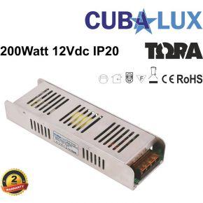 Cubalux Τροφοδοτικό LED 12V 200W IP20