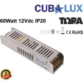 Cubalux Τροφοδοτικό LED 12V 60W IP20