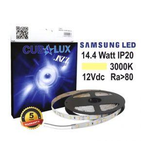 CUBALUX Jazz light Μονόχρωμη Ταινία LED 14.4W/m 12V IP20 5m