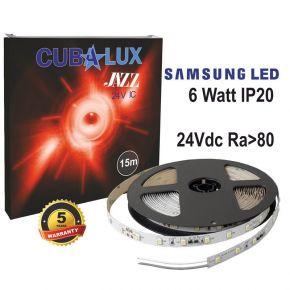 CUBALUX Jazz Μονόχρωμη Ταινία LED 6W/m 24V IC IP20 15m