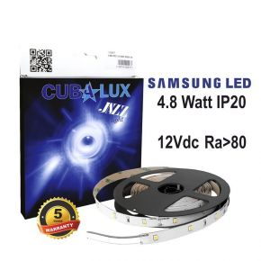 CUBALUX Jazz light Μονόχρωμη Ταινία LED 4.8W/m 12V IP20 5m