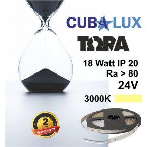 CUBALUX Ταινία LED TΩRA LIGHT Μονόχρωμη 18W/m 24V IP20 5m