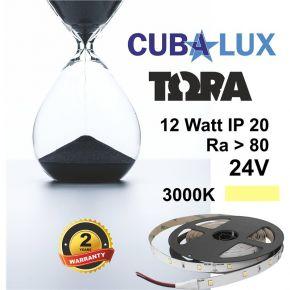 CUBALUX Ταινία LED TΩRA LIGHT Μονόχρωμη 12W/m 24V IP20 5m