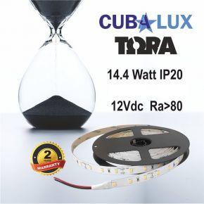 CUBALUX Ταινία LED TΩRA LIGHT Μονόχρωμη 14.4W/m 12V IP20 5m