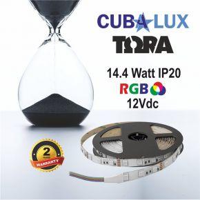 CUBALUX Ταινία LED TΩRA LIGHT RGB 14.4W/m 12V IP20 5m