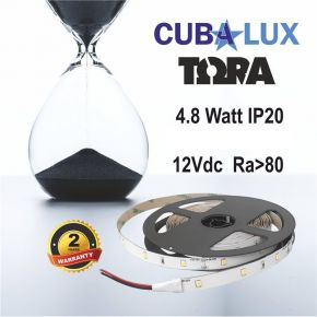 CUBALUX TΩRA Light Μονόχρωμη Ταινία LED 4.8W/m 12V IP20 5m