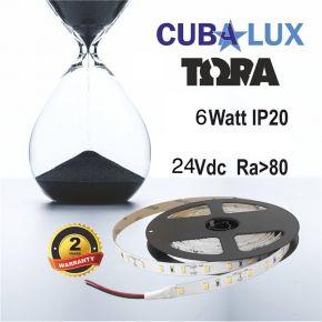 CUBALUX Ταινία LED TΩRA LIGHT Μονόχρωμη 6W/m 24V IP20 5m