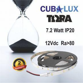 CUBALUX Ταινία LED TΩRA LIGHT Μονόχρωμη 7.2W/m 12V IP20 5m