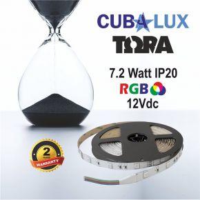 CUBALUX Ταινία LED TΩRA LIGHT RGB 7,2W/m 12V IP20 5m