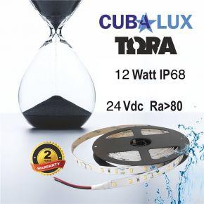 CUBALUX Ταινία LED TΩRA LIGHT Μονόχρωμη 12W/m 24V IP68 5m