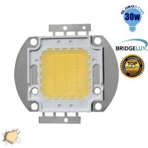 Υψηλής Ισχύος Led 30 Watt Globostar Θερμό Λευκό BRIDGELUX