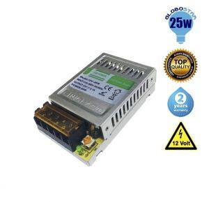 Τροφοδοτικό Globostar 25 Watt 12 Volt DC Ρυθμιζόμενο