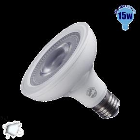 Λαμπτήρας LED E27 PAR30 Globostar 12 Μοίρες 15 Watt 230v Ψυχρό