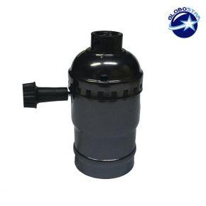 E27 Ντουί Αλουμινίου Φωτιστικού Μαύρο Μεταλλικό