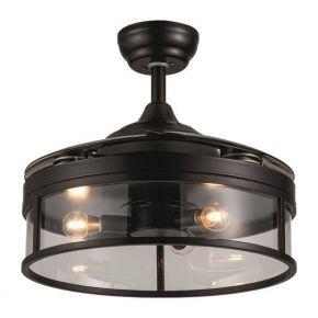Eurolamp Ανεμιστήρας Με Ανοιγοκλειόμενες Φτερωτές 3 Φώτα Ε14 60W