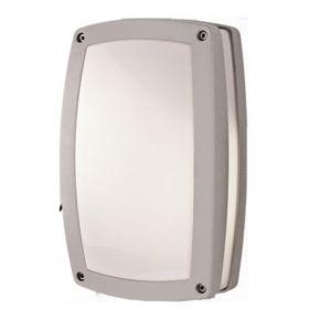ACA Απλίκα Αλουμινίου Γκρι 2xE27 29x18cm με PC Οπαλ Κάλυμμα IP54