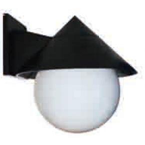 ACA Απλίκα Με Ακρυλική Μπάλα E27 Γαλακτερή Με Καπέλο