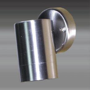 ACA Απλίκα Σποτ Μονό GU10 Ανοξείδωτο Ατσάλι Nickel Mat IP54