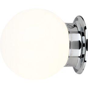 ACA Επίτοιχο Φωτιστικό 1xE27 Λευκό Γυαλί+Μέταλλο Capri