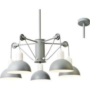 ACA Κρεμαστό Φωτιστικό 5xE14 Μεταλλική Λευκό/Γκρι Cezanne