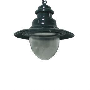 ACA Κρεμαστό Φωτιστικό Αλουμινίου Διαφανές Γυαλί E27 Ø30