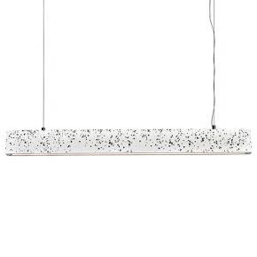 ACA Κρεμαστό Φωτιστικό LED 21W Λευκό Terrazzo Klimt