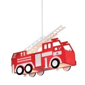 ACA Κρεμαστό Παιδικό Φωτιστικό 2xE27 Πυροσβεστικό Heroes