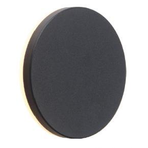 ACA LED Απλίκα Τοίχου Αλουμινίου POLLA-R 8W IP54 Σκούρο Γκρι