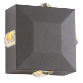 ACA LED Απλίκα Τοίχου Menfi Αλουμινίου 5W IP54