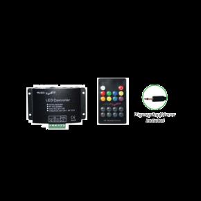 ACA LED Controller Audio με τηλεχειριστήριο RF RGB Power