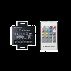 ACA LED Controller με τηλεχειριστήριο RF RGB Power