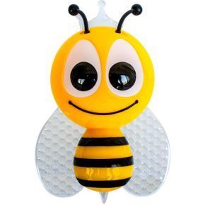 ACA LED Λαμπάκι Νυκτός Κίτρινη Μελισσούλα Με Αισθητήρα Μέρα-Νύχτας 1W RGB 230V Ροζ