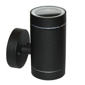 ACA LED Spot Απλίκα Εξωτερικού Χώρου 1 Δέσμη GU10 Black