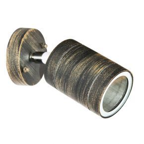 ACA LED Spot Απλίκα Εξωτερικού Χώρου 1 Δέσμη Περιστρεφόμενη GU10 Rust