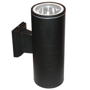 ACA LED Spot Απλίκα Εξωτερικού Χώρου 2 Δέσμεων Ε27 Black
