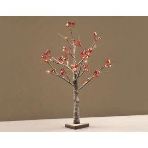 ACA LED Χιονισμένο Red Berry Δεντράκι 24 LEDs mini 3.6W (Mini)